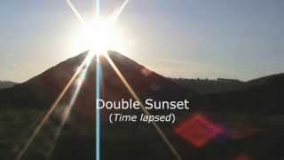 Mysterious Double Sunset