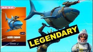 "NEW ""LASER CHOMP"" GLIDER GAMEPLAY **LEGENDARY ITEM** - FORTNITE"