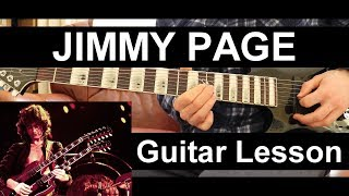 jimmy page style *left handed* guitar riff lesson! riff #1!