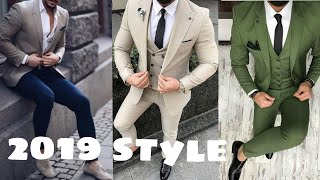 New style 3 piece suits for men |New design coat pant suit for boys | 2019 new fashion collection