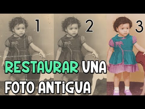 PHOTOSHOP | Restaurar una foto antigua | Regalo [PARTE 2]