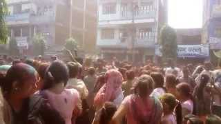 गाईघाटमा होली: Celebration of Holi (Festival of Color) at Gaighat, Udayapur, Nepal