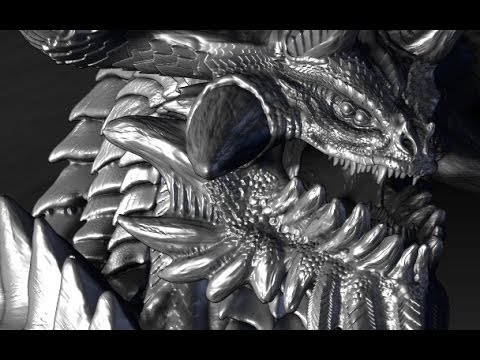 Making a Full 3D dragon Modelling and texturing