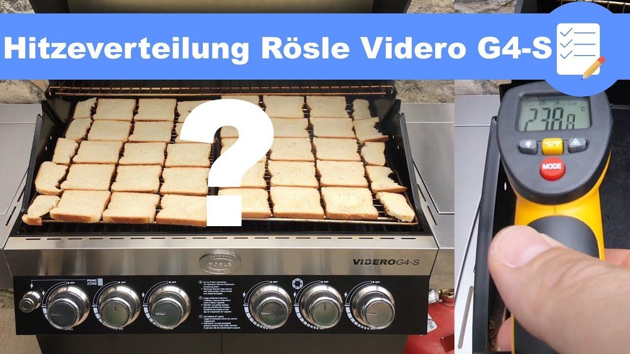 Rösle Gasgrill Meinungen : Hitzeverteilung im rösle gasgrill videro g4 s toastbrot test