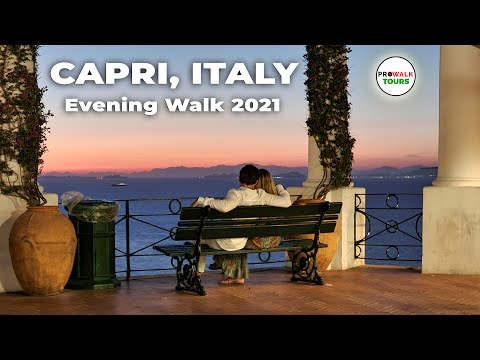Capri, Italy Evening Walking Tour - 4K - with Captions!