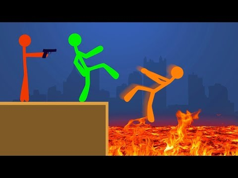 DON'T FALL IN THE LAVA CHALLENGE! (Stick Fight)