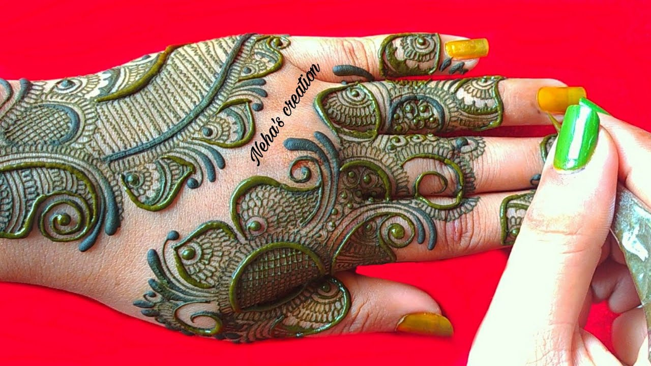 Simple & easy  mehndi design मेहंदी डिजाइन  ll unique arabic henna design ll 2020 mehandi design