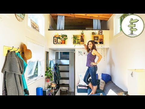 Woman Living in a Tiny House to Achieve Financial Freedom - Interview & Tour