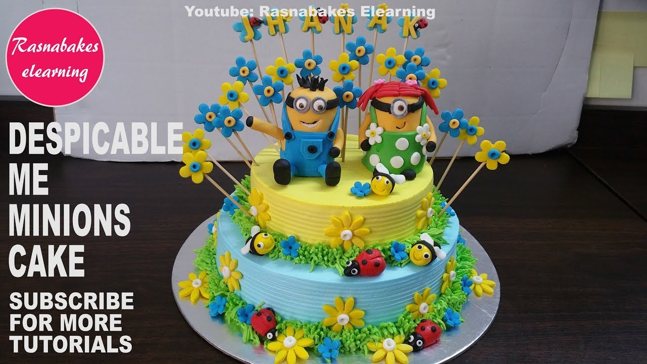 Minion Cakehappy Birthday Cake For Boys And Girlsbirthday Decorating Video