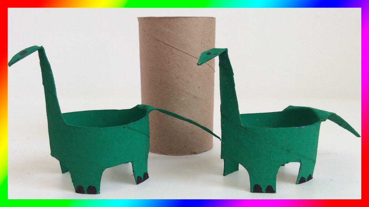 Dinosaurio figuras de papel dinosaurio de papel paper - Youtube manualidades de papel ...