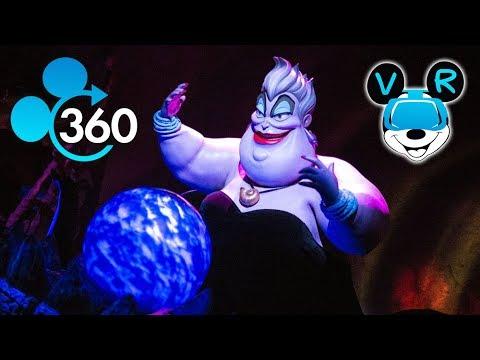 Disneyland VR 360º - Little Mermaid Ariel's Undersea Adventure in 360 4k HD!