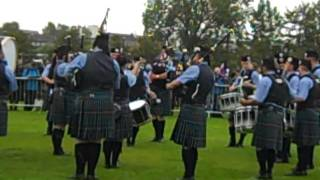 Dumfries & Galloway Constabulary Pipe Band in the final of the World Championships 2011