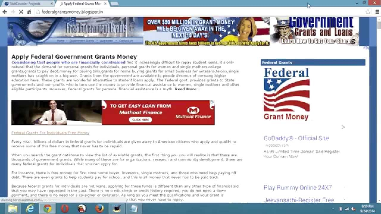 how to write a federal grant