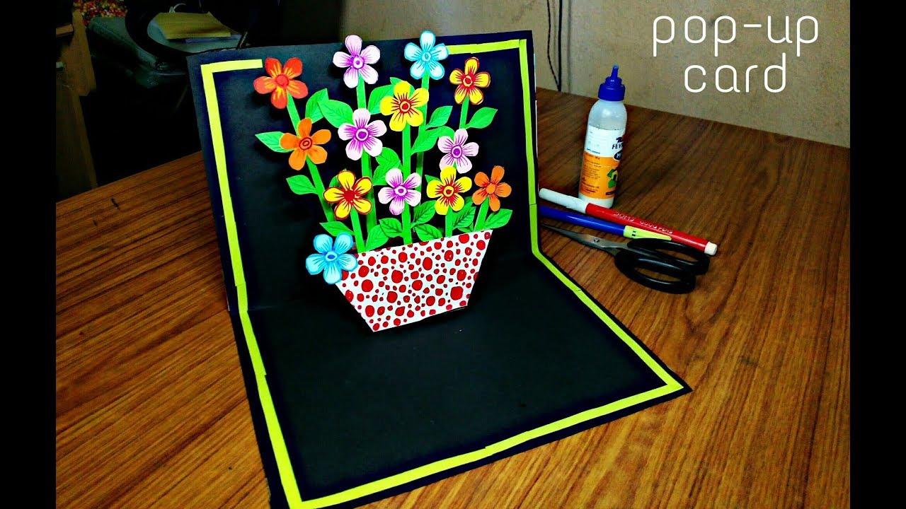 diy flower bouquet pop up card-paper crafts-handmade craft- mother u2019s day card