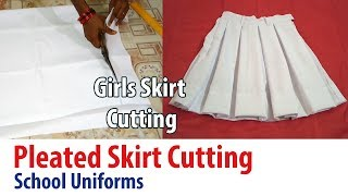 School uniforms for girls skirt cutting How to cut Box Pleated Skirt kids uniforms (DIY)