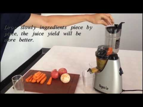 Juicing with Argus Le Cold Press Juicer AL-B6000S
