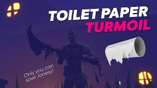 Toilet Paper Turmoil - Fortnite Adventure Escape Map by PUZZLER - CODE 8554-7897-2705
