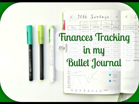 How to track your Finances! | Bullet Journal Finances Trackers Ideas