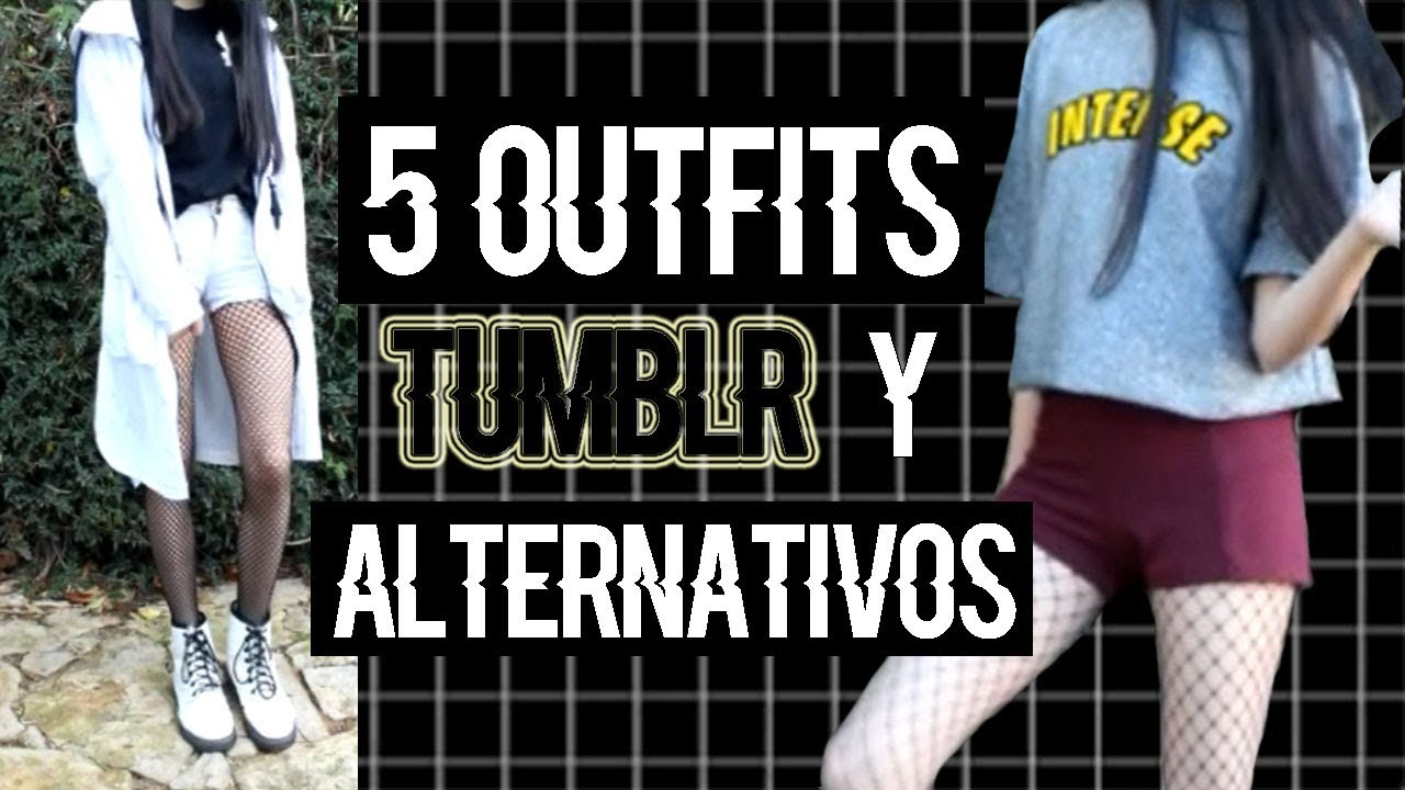 [VIDEO] - 5 OUTFITS TUMBLR Y ALTERNATIVOS | ♥LookBook♥ | AmelieMeowMeow 4
