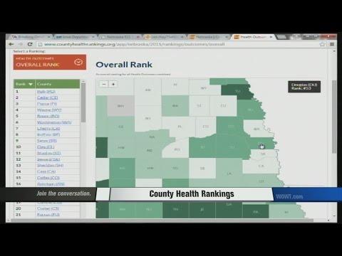 County Health Rankings in Nebraska