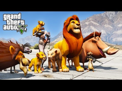 LION KING GTA 5 MOD - SAVING SIMBA FROM SCAR !!!