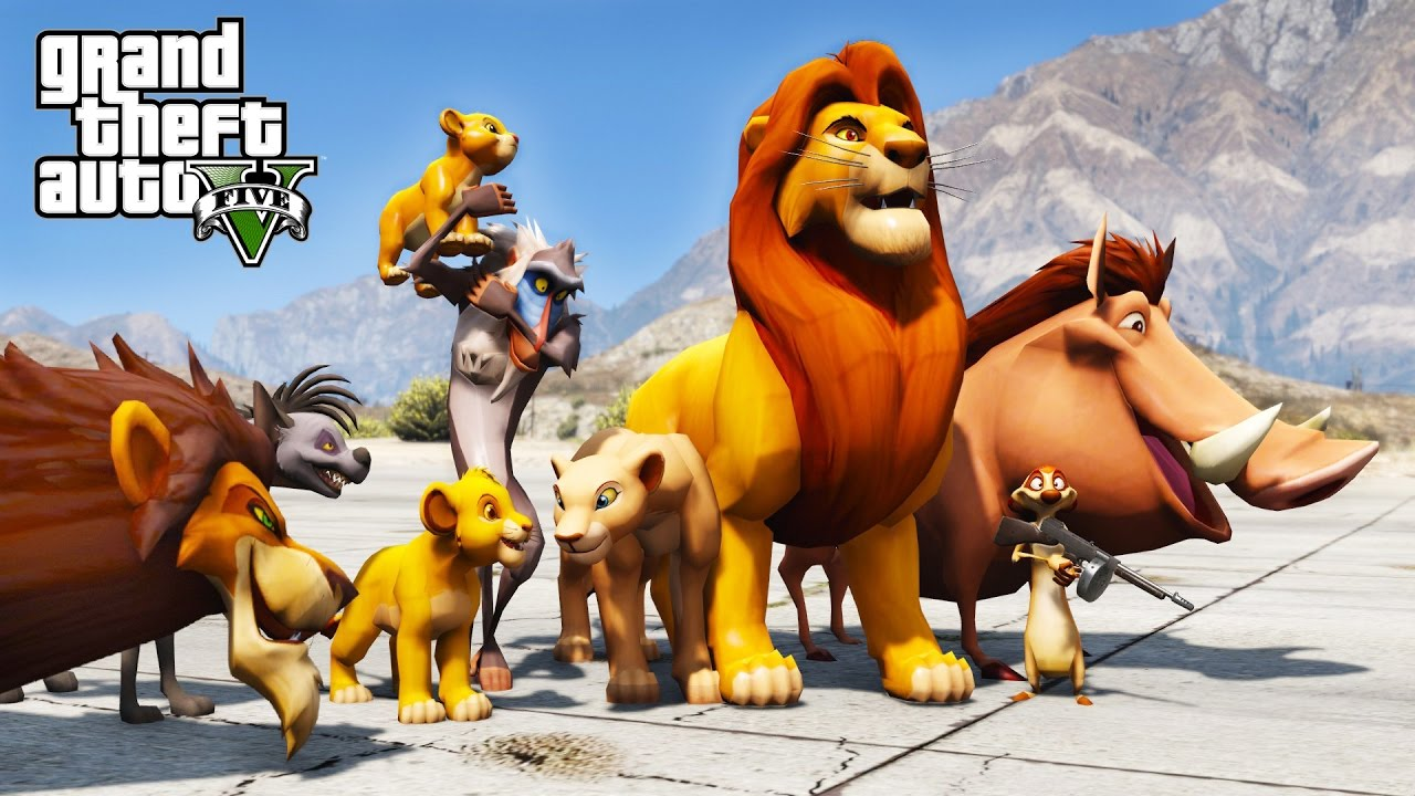 Lion King Gta 5 Mod Saving Simba From Scar Youtube