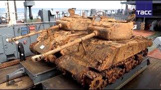 Водолазы подняли два американских танка со дна Баренцева моря