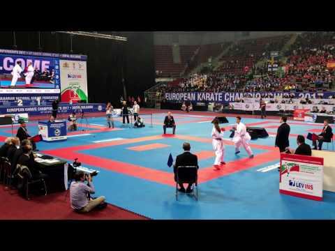 European Karate Championship 2017 - Lelis Mariana - Caceres_Quinonero Marina