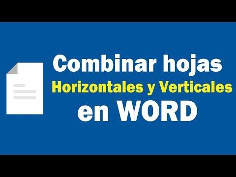 Hojas horizontales y verticales en Word
