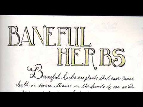 BANEFUL HERBS V/R Jude Direct Book of Shadow
