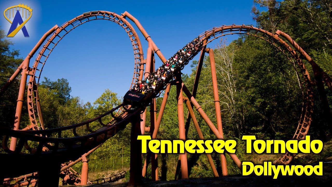 Tennessee Tornado Roller Coaster POV at Dollywood