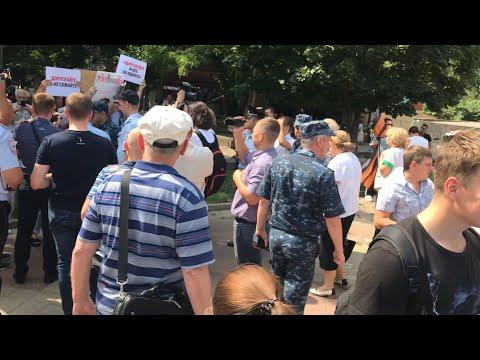 Разгон акции за честные выборы Ростов-на-Дону