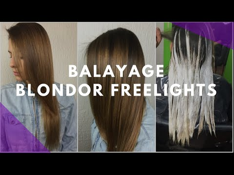 Antes y después / Balayage con Olaplex, freelights y TIGI Copyright Colour