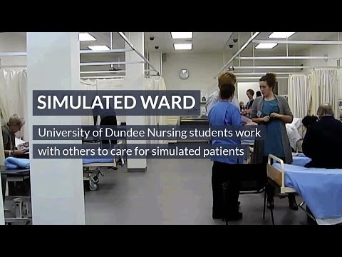 Simulated Ward Training for University of Dundee Nursing Students