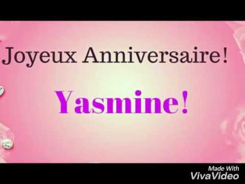Joyeux Anniversaire Yasmine Youtube
