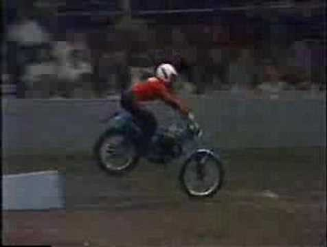 Royal Tournament Earls Court 1980 - Motorcycle race RAF v Army