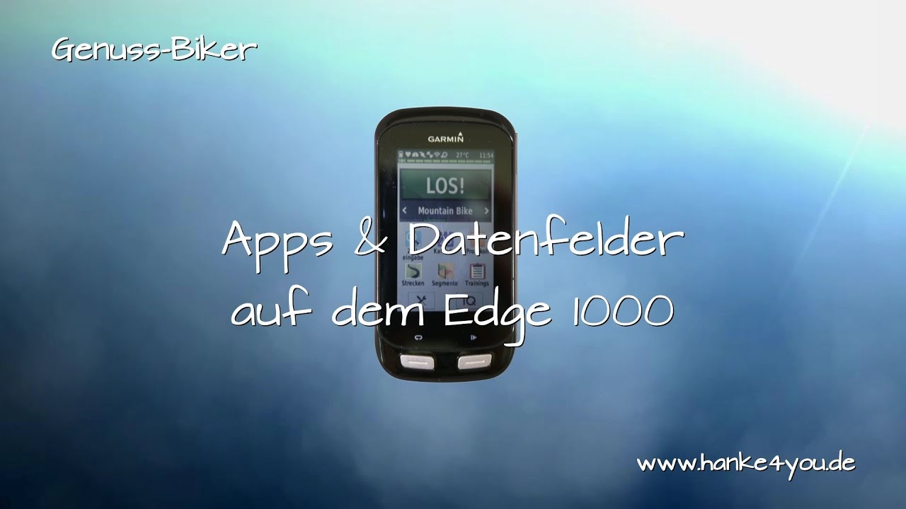 garmin edge 1000 strecken