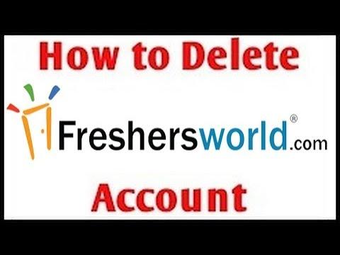 how to delete freshersworld account