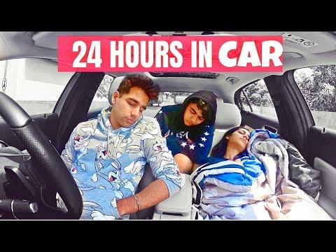 LIVING IN MY CAR FOR 24 HOURS Challenge   Rimorav Vlogs ...