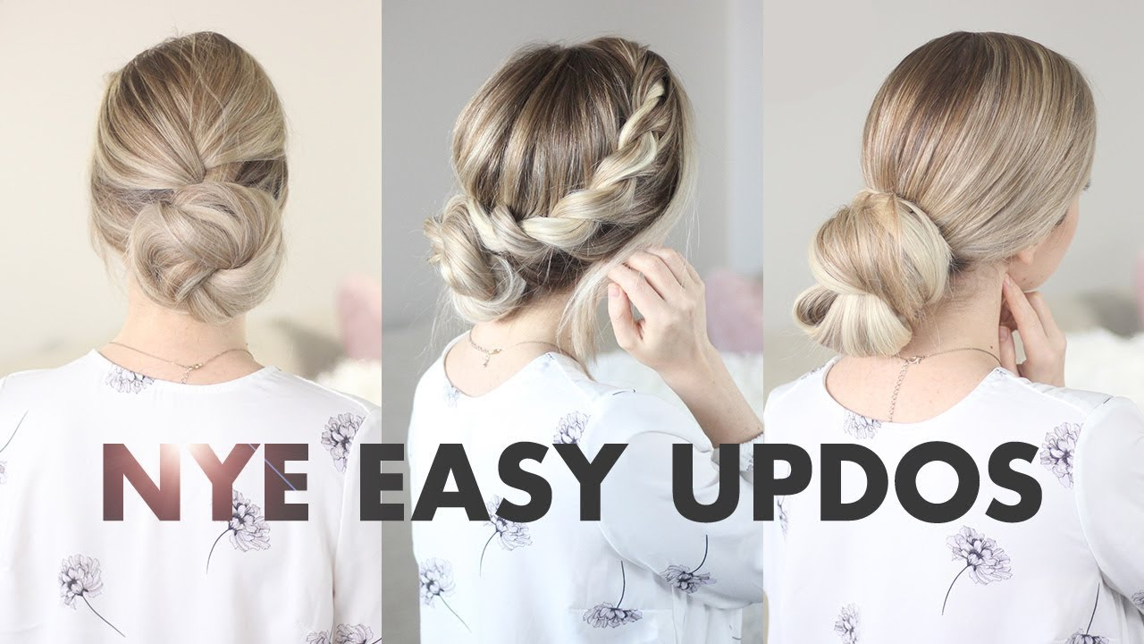 3 Simple Buns: New Years Eve & Holiday Hairstyles - YouTube