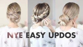 3 Simple Buns: New Years Eve & Holiday Hairstyles
