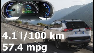 Toyota RAV4 2.5l Hybrid (2019): fuel consumption (economy) in city (real-life test) :: [1001cars]
