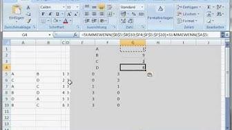 Tutorial selbstsortierende Excel Tabellen