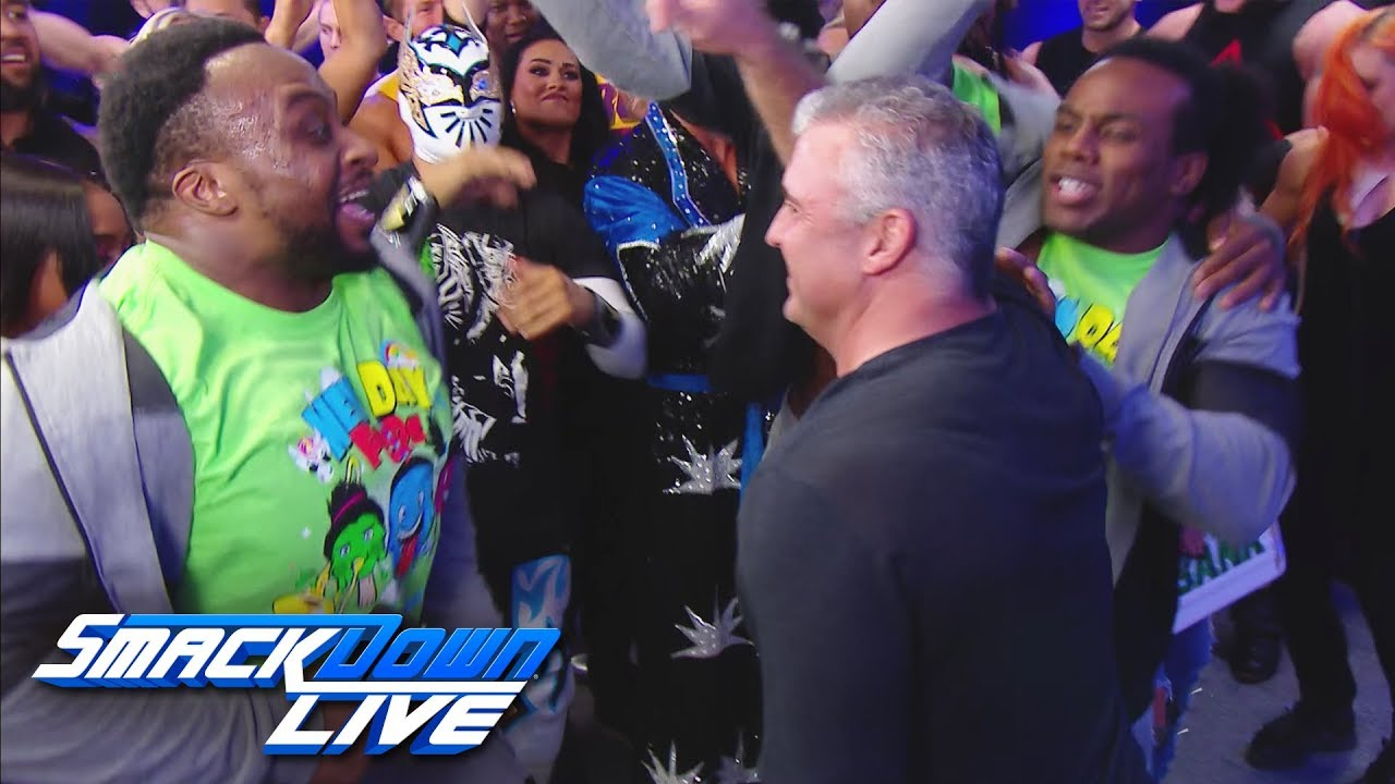 Shane McMahon rallies the Team Blue troops: SmackDown LIVE, Nov. 14, 2017