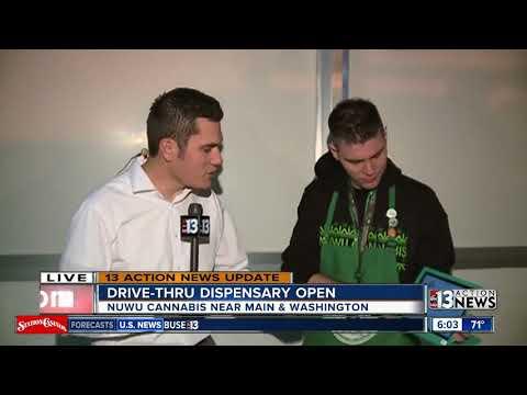 Nevada's first marijuana drive-thru window opens on Main Street