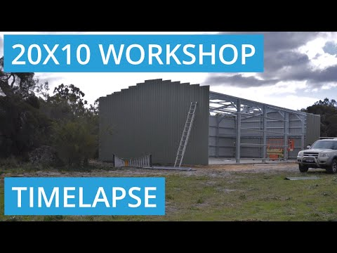 Timelapse of Shed Built in Casuarina, Western Australia 6167
