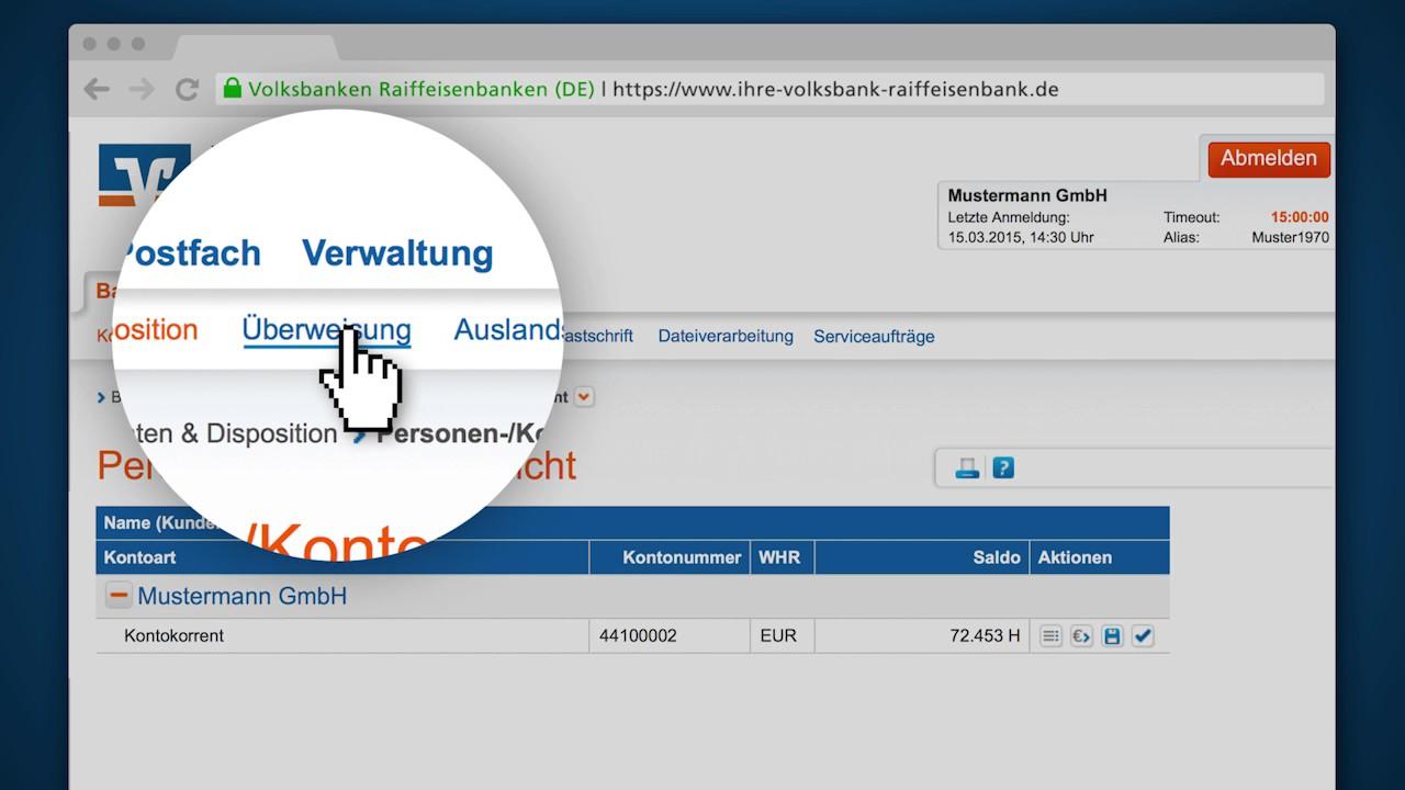 Volksbank Online Banking Fur Firmenkunden Und Gewerbekunden Volksbank Weinheim Eg Youtube