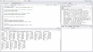 Basic summary statistics in R