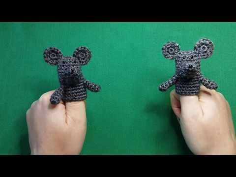 Пальчиковый театр мышка крючком схема