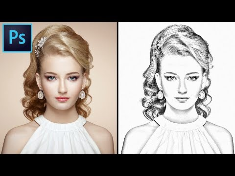 How to convert you Image into A Pencil Sketch in Photoshop. Photoshop Pencil Sketch effect tutorial. thumbnail